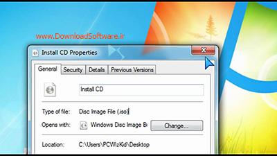 آموزش رایت فایل ایمیج iso در ویندوز 7