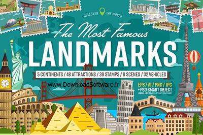 دانلود تصاویر لایه باز بیشترین جاهای مشهور دنیا