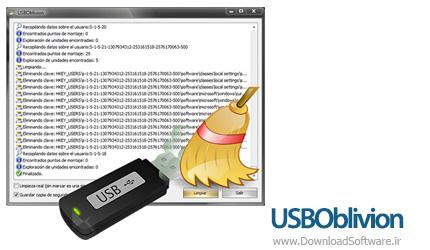 دانلود USBOblivion نرم افزار پاک کردن تاریخچه ی یو اس بی و سی دی