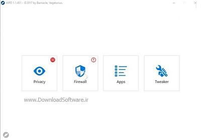 دانلود WPD portable نرم افزار تنظیمات حریم خصوصی و فایروال