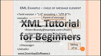 فیلم یادگیری اصول اولیه برنامه نویسی XML