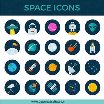دانلود 20 تصویر آیکون فضایی