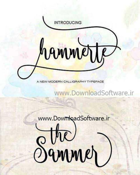 دانلود فونت انگلیسی Hammerte Script Font