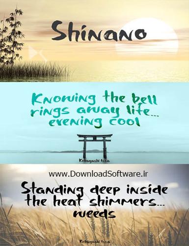 دانلود فونت جدید انگلیسی Shinano