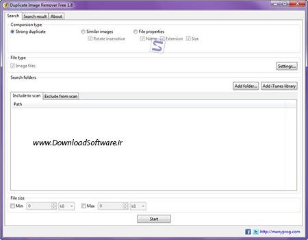 دانلود Manyprog Duplicate Image Remover Free حذف تصاویر تکراری