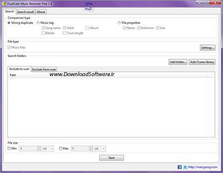 دانلود Manyprog Duplicate Music Remover Free حذف فایل موسیقی تکراری