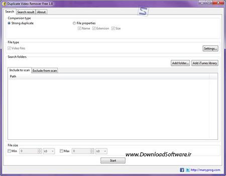 دانلود Manyprog Duplicate Video Remover Free حذف ویدیوهای تکراری