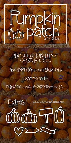 دانلود فونت انگلیسی CM - Pumpkin Patch a fun Serif