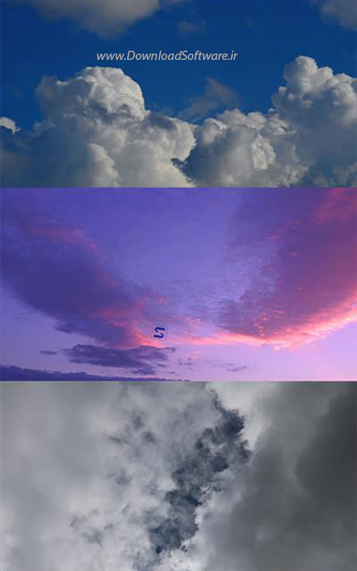 دانلود تصاویر ویدیویی از ابرهای شناور