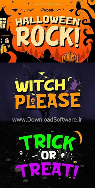 دانلود فونت انگلیسی Halloween Rock Cute Horror Font
