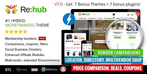 دانلود قالب وردپرس ThemeForest - REHub v7.0.5