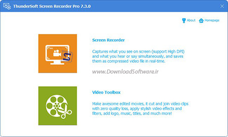 دانلود ThunderSoft Screen Recorder Pro نرم افزار ضبط صفحه نمایش
