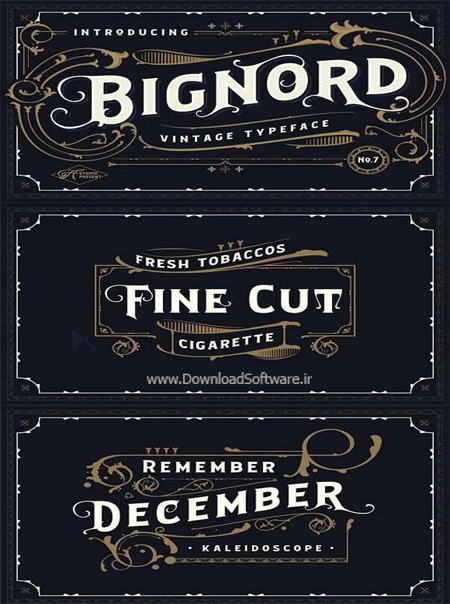 دانلود فونت انگلیسی Bignord - Vintage Typeface