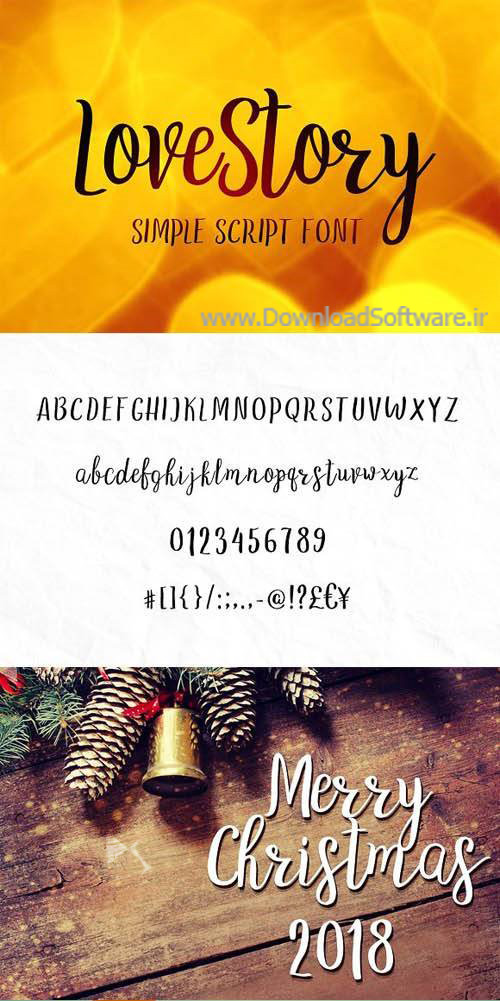 دانلود فونت انگلیسی LoveStory - gentle script font