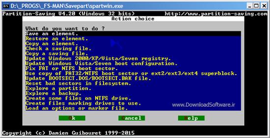 دانلود Partition Saving نرم افزار بازگردانی و کپی و ذخیره سازی پارتیشن هارددیسک