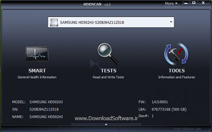HDD-Scan دانلود HDD Scan 4.0 نرم افزار اسکن انواع هارد دیسک