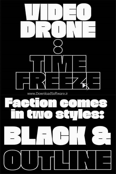 دانلود فونت انگلیسی Faction Font Family
