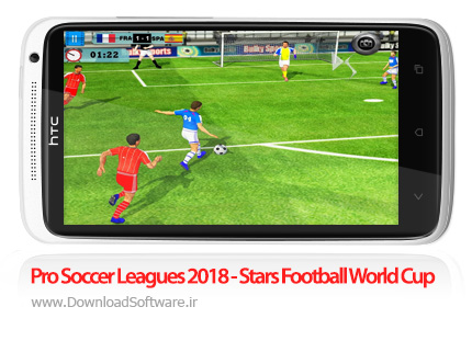 دانلود Pro Soccer Leagues 2018 - Stars Football World Cup