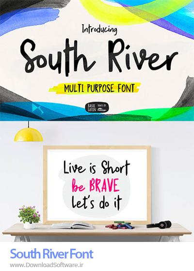 دانلود فونت جذاب و زیبای انگلیسی بنام South River Font