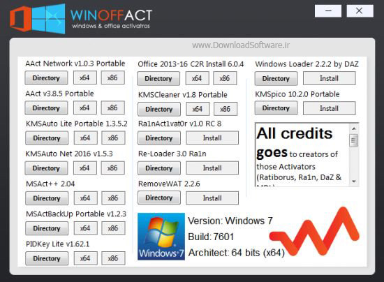 دانلود Winoffact – Windows & Office Activators