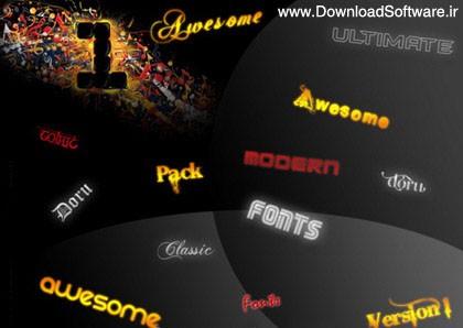 مجموعه 100 فونت جدید و زیبای انگلیسی – Ultimate Fonts Collection