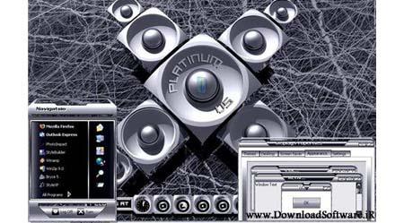 تم جذاب و بسیار دیدنی Platinum مخصوص ویندوز XP