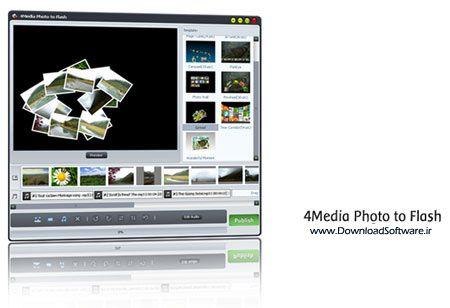 دانلود نرم افزار تبدیل عکس به فلش 4Media Photo to Flash Portable