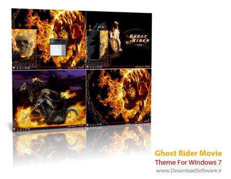 دانلود تم فیلم روح سوار برای ویندوز سون Ghost Rider Movie Theme For Windows 7