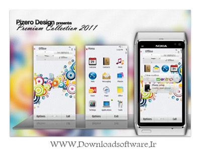 تم بسیار زیبا و گرافیکی برای نوکیا Symbian^3 با نام Joy by Pizero