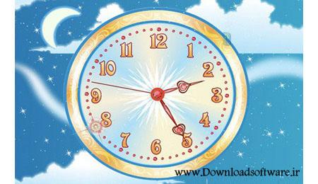 دانلود اسکرین سیور بسیار زیبا و دیدنی با نام Sky Flight Clock ScreenSaver