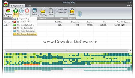 دانلود برنامه یکپارچه سازی سریع و آسان هارد دیسک با Smashing Defrag 4.5