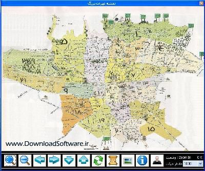 دانلود نرم افزار نقشه تهران برای کامپیوتر Tehran Map v3.0 - وب سایت دانلود سافت ور