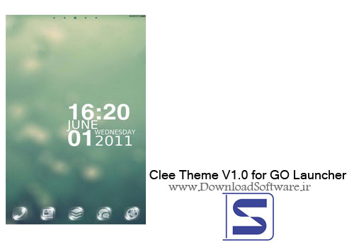 دانلود تم جدید و زیبای Clee Theme V1.0 for GO Launcher برای اندروید