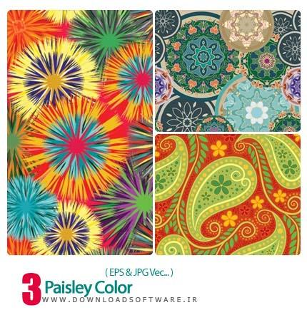 دانلود وکتور بته جقه رنگی - Paisley Color