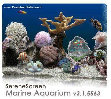 دانلود اسکرین سیور آکواریوم 3 بعدی زیبا SereneScreen Marine Aquarium