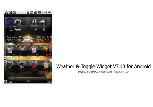 دانلود تم زیبای Weather & Toggle Widget V7.13 for Android برای اندروید