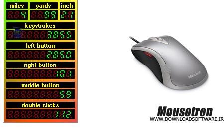 دانلود برنامه شمارش تعداد کلیک ها با نرم افزار Mousotron
