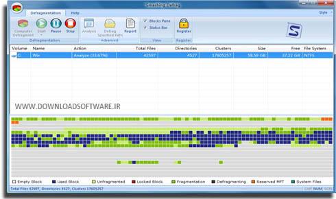 دانلود Smashing Defrag نرم افزار یکپارچه سازی هارد دیسک برای ویندوز