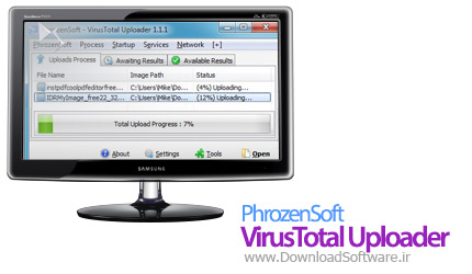 PhrozenSoft VirusTotal Uploader