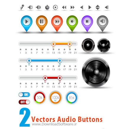 Vectors-Audio-Buttons