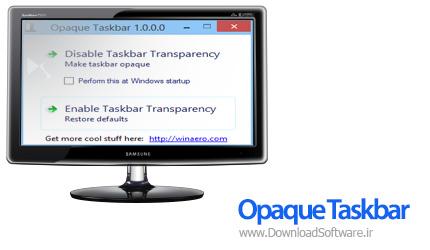 Opaque-Taskbar