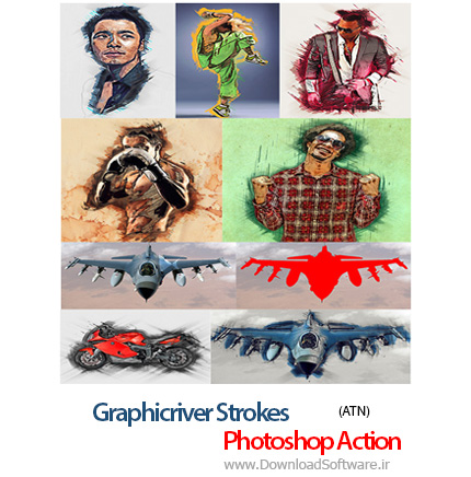 Graphicriver-Strokes-Photoshop-Action