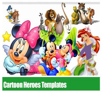 Cartoon-Heroes-Templates