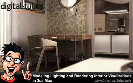 Digital-Tutors-–-Modeling-Lighting-and-Rendering-Interior-Visulizations-in-3ds-Max