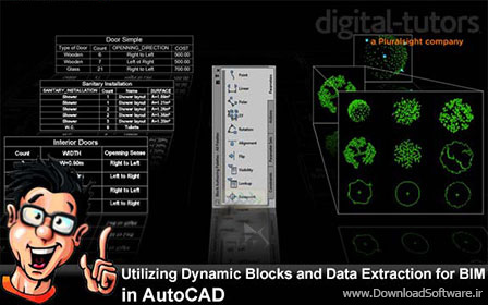 Digital-Tutors-–-Utilizing-Dynamic-Blocks-and-Data-Extraction-for-BIM-in-AutoCAD
