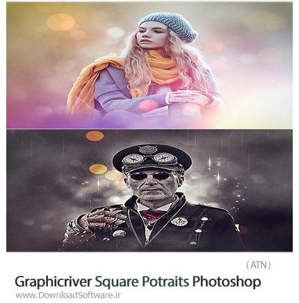 Graphicriver-Square-Potraits-Photoshop-Action