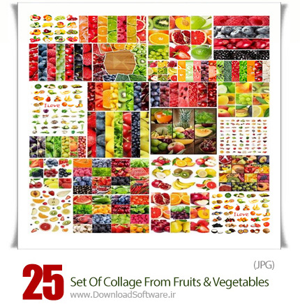 Set-Of-Collage-From-Fruits-And-Vegetables