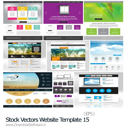 Stock-Vectors-Website-Template