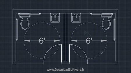 Digital-Tutors-Drawing-an-Accessible-Restroom-Layout-in-AutoCAD