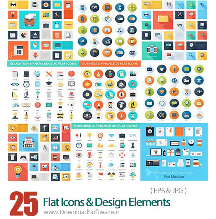 Flat-Icons-And-Design-Elements